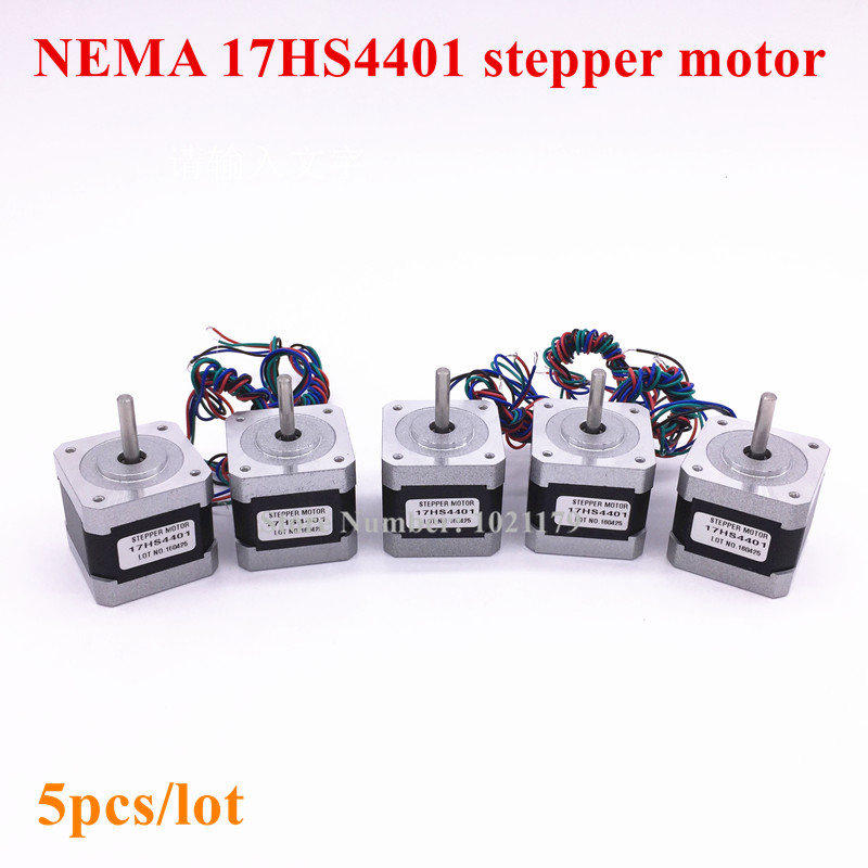 5pcs lot Nema 17 stepper motor 4 lead Nema 17HS4401 1 7A 2 phase 42 motor