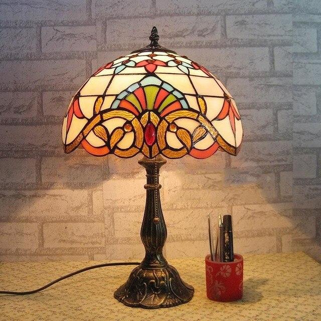 Европейский Ретро Освещение Weddingbedroom Прикроватные Лампы Освещения Исследование Светодиодные Настольные Лампы 110 В ~ 240 В Исследование Гостиная E27 привело Стоять