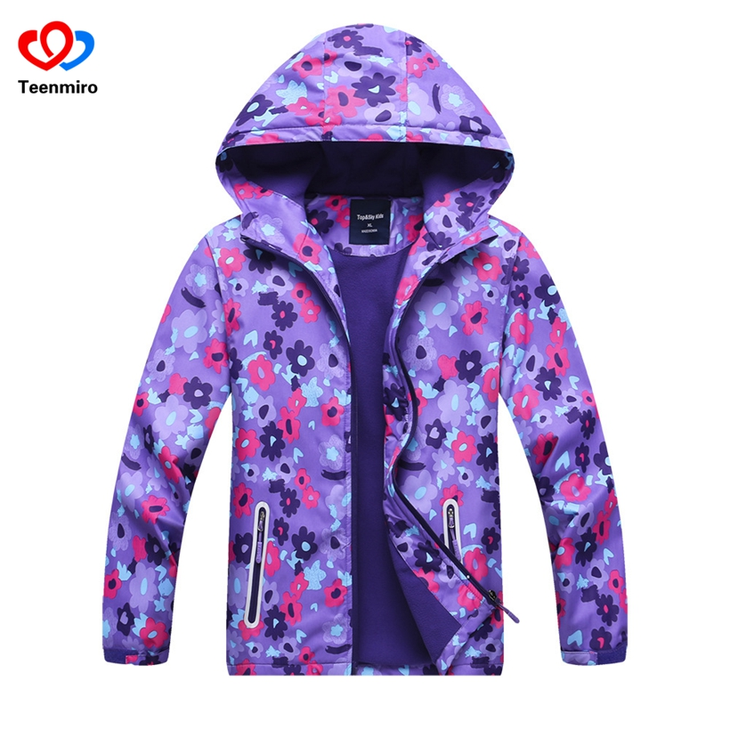 Hooded Girls spring jacket Elsa Coat Costume Anna Snow Queen Clothes Windbreaker for Children Outerwear baby blazer Clothing