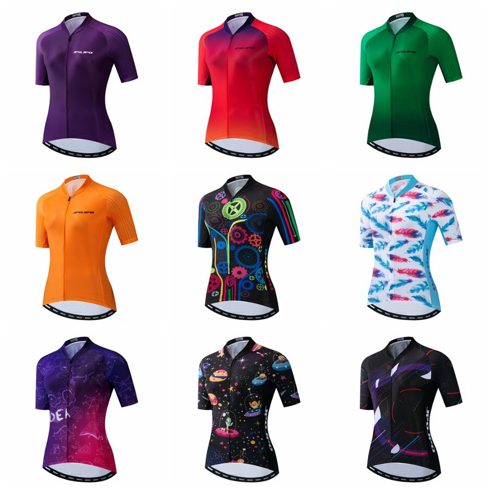 Women JPOJPO Cycling Jersey Pro Top Bike Team Cycling Clothing MTB Road Maillot Ropa Ciclismo Summer Short Sleeve Bicycle Jersey(China)