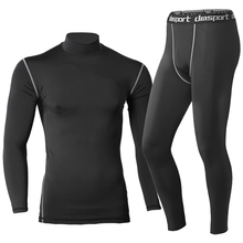 Long Johns Mens Thermal Underwear Set Winter Termica Collar Compression Thermo Underwear Men s Lucky John