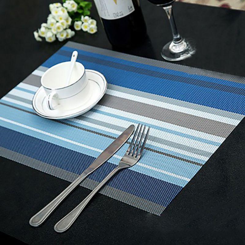 4pcs/set Exquisite PVC Texlin Placemat Drink Coasters Place Mats for Table Heat-resistant Place Mats home accessories kitchen OB