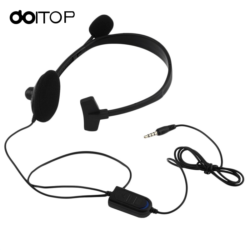 DOITOP Wired Gaming Headphones Unilateral Headset Over-ear Earphone Gaming Headset For PS4 PC Video Game Gamer With VOL A3