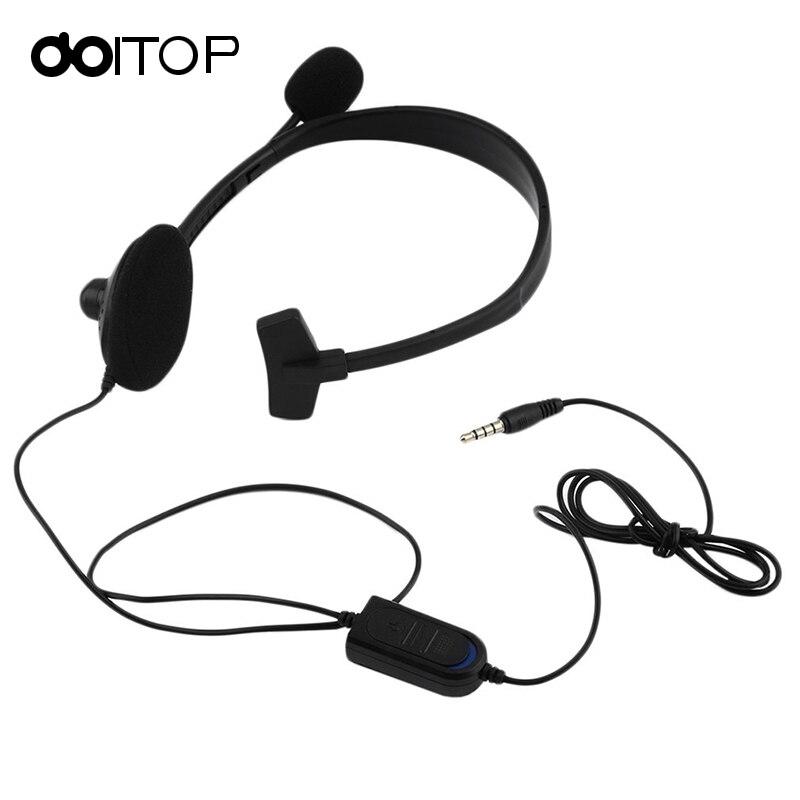 Doitop проводной Игровые наушники одностороннее гарнитура Over-Ear Наушники игровая гарнитура для PS4 PC Видео Игры Геймер с VOL a3