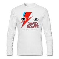 Mannen David Bowie ogen t-shirt pop muziek printer David Robert Jones Kostuums voor man Lange mouwen cartoon T-Shirt Hot Selling
