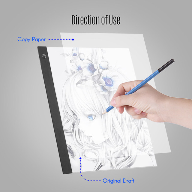 LED A3 Light Panel Graphic Tablet Light Pad Digital Tablet with 3-level Dimmable Brightness for Diamond Painting Supplies