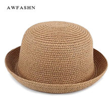 Children's sun hat high quality straw hat summer baby beach hats panama shades black leisure solid bone sport wholesale gorras(China)