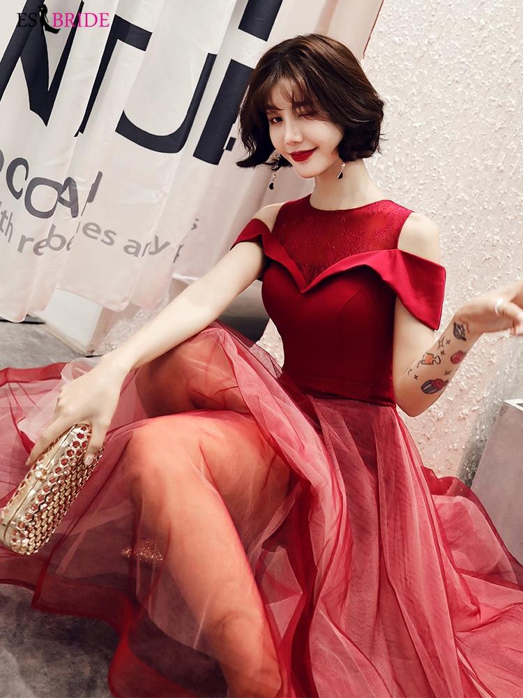 Red Fashion   Evening     dresses   Robe de Soiree long A-line   Evening     dress   vestidos de fiesta de noche Special Occasion   Dresses   ES2396