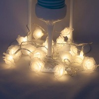10M 50LED Romantic Rose Flowers Led String Lights Holiday Lighting For Christmas Wedding Garland Party Decoration