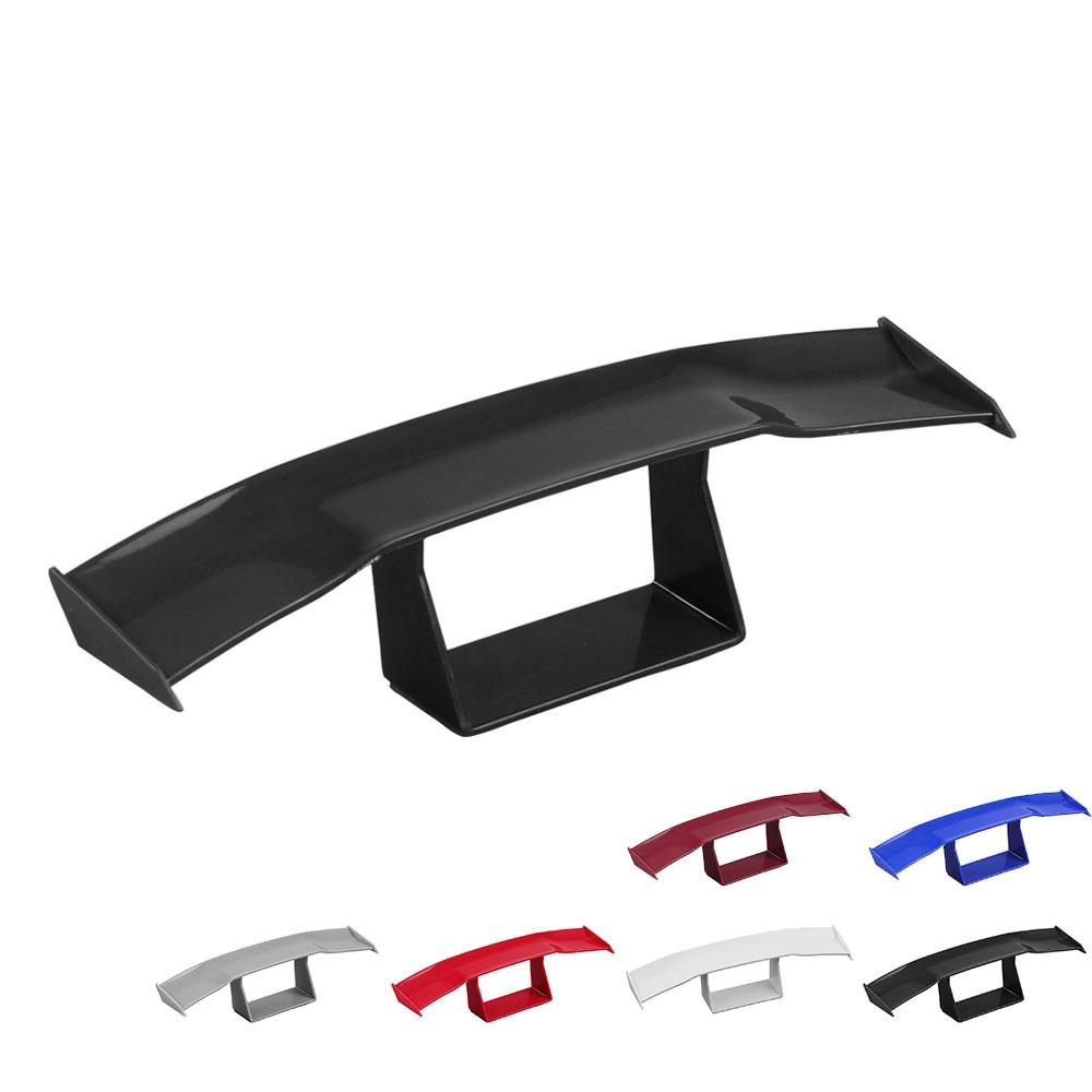 Car Mini Tail Spoiler Wing Carbon Fiber Black Decoration Sticker Accessories x1