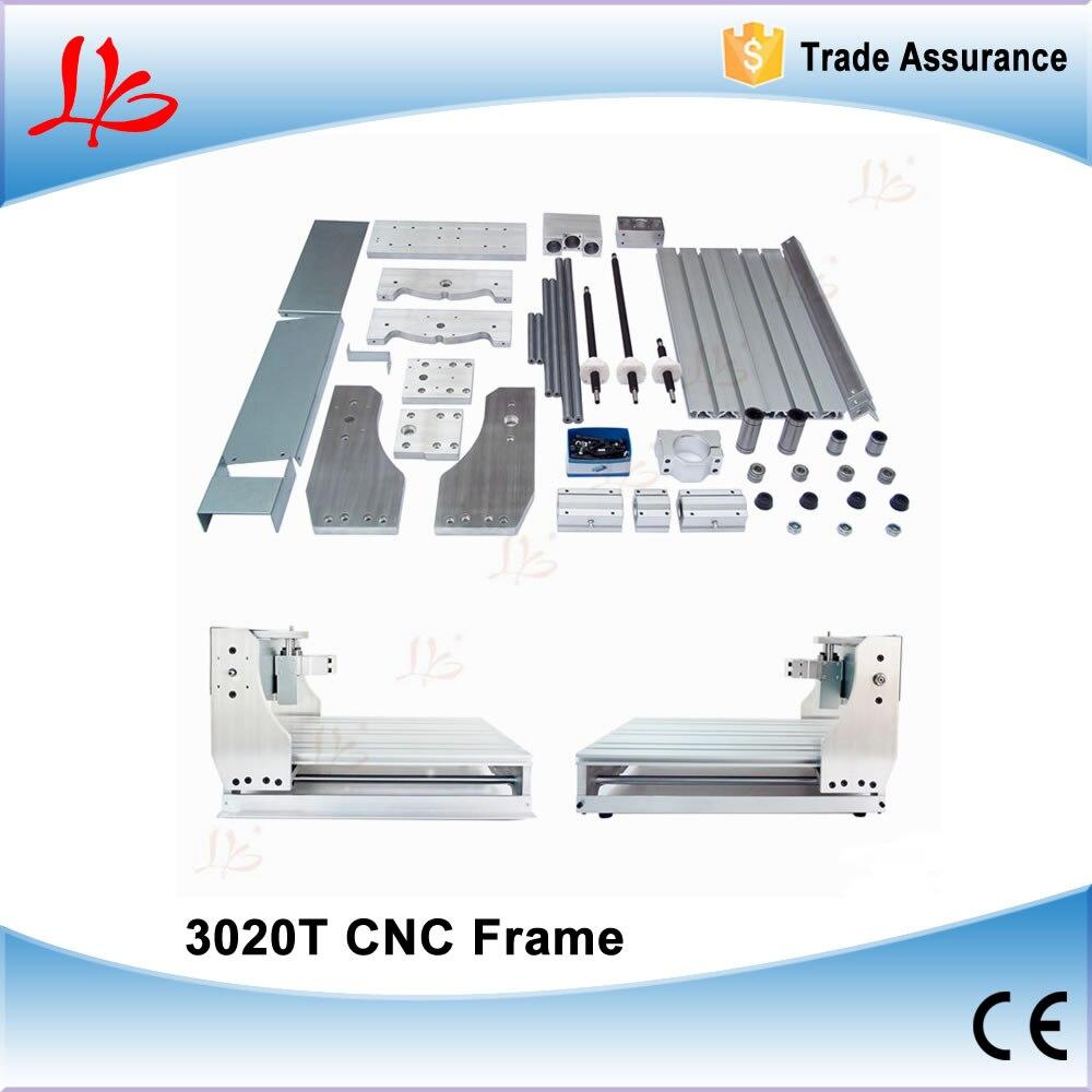 DIY CNC 3020 frame for desktop cnc engraving machine wood router lathe with Trapezoidal screw diy cnc 3060 engraving machine 400w wood milling router 6030 ball screw cutting engraver lathe frame