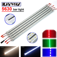 RAYWAY 5 pcs * 50 cm DC 12 V 36 SMD 5630 LED Luz de Tira Rígida LEVOU Luz Bar com U Perfil De Alumínio + tampa do pc + Conector DC lâmpadas