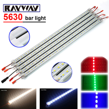 RAYWAY 5pcs*50cm DC 12V 36 SMD 5630 LED Strip Light Rigid LED Bar Light with U Aluminium Profile + pc cover + DC Connector lamps