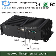SSD 32Gb Embedded Fanless industrial PC With Windows10 Operating System