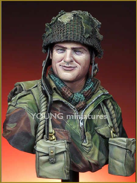 1/10 resin figure bust movie World War II British paratroopers gk hand white model military soldier X42