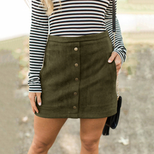 цена на 2019 spring new skirt sexy suede button slim skirt skirt street hipster short skirt