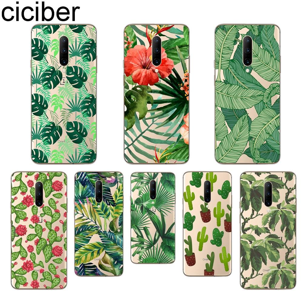 ciciber Green leaves Phone Case For font b Oneplus b font font b 7 b font