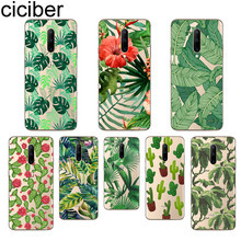 ciciber Green leaves Phone Case For Oneplus 7 Pro 1+7 Pro Soft TPU Cover for Xiaomi 9 Coque For Redmi Note 7 6 Pro Funda Shell