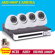 HD 8CH AHD CCTV System Home Surveillacne DVR Kit Video Recorder 1080P 1080N 720P 4*1.3MP Indoor Security Camera System no HDD