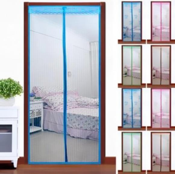 1Pcs New Mesh Anti Hot Net Screen Door Insect Guard Curtain Mosquito Doors Chic Pop Magnetic