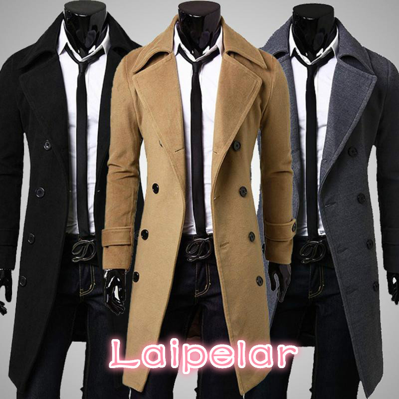Winter Long Trench Coat Men Classical Style Overcoat Slim Fit Double Breasted Overcoats Men Clothes Laipelar overcoat