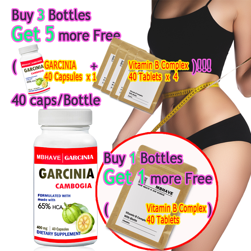 BUY 1 GET 1 AND free vitamin B complex free ! Pure garcinia cambogia slimming products loss weight diet product 2 bottles 120 pcs pure garcinia cambogia extracts weight loss 95% hca 100% effective for slimming supplement
