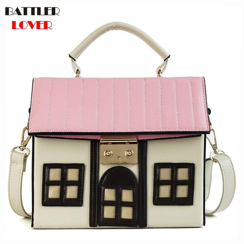 House Shape Design Bags for Women 2019 Bags Women Handbag Bolsa Feminina Girls Shoulder Messenger Bag Luxury Handbags Womens Bag