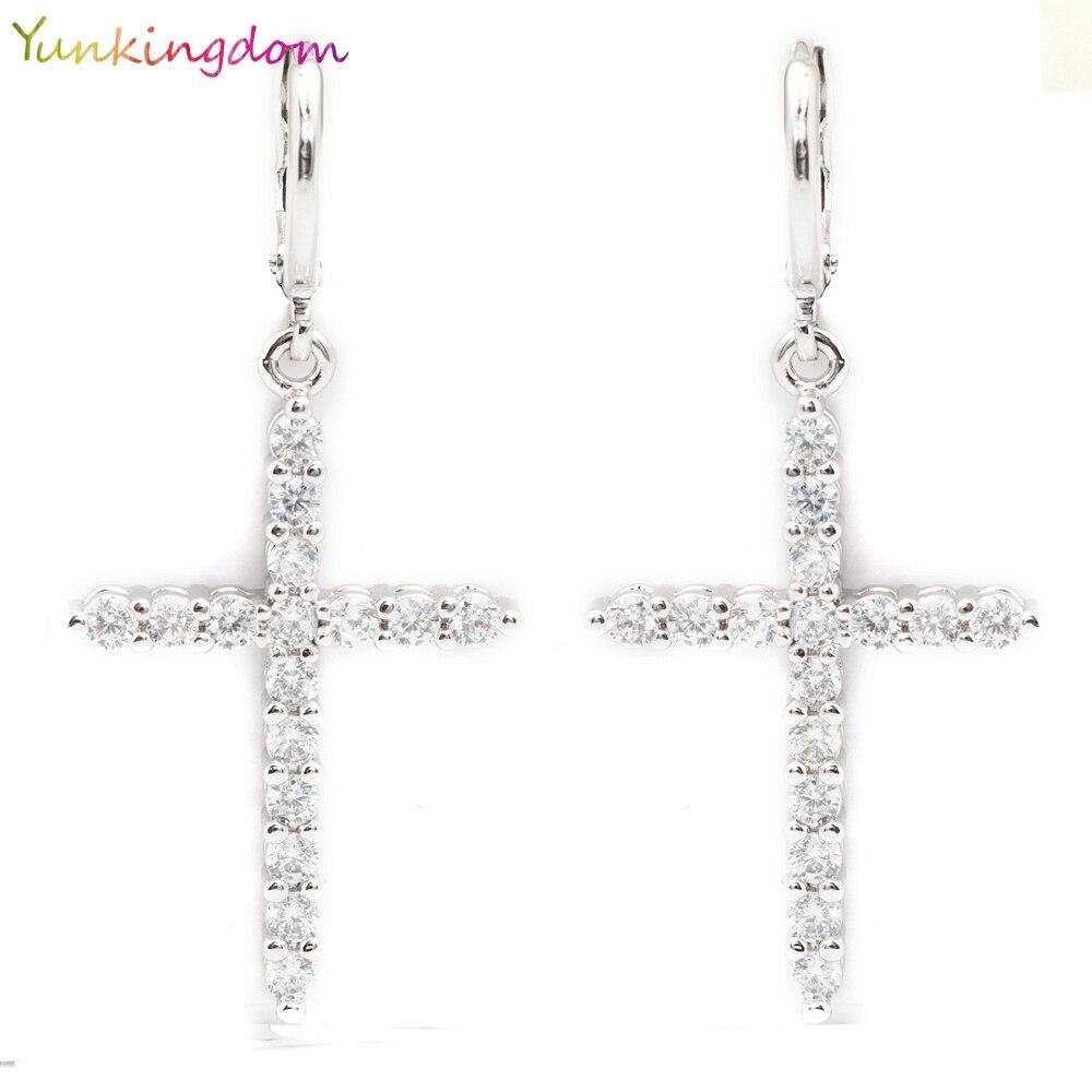 Yunkingdom New Vintage Design Dangle Earrings For Women Classic Elegant  Fashion Zircon Crystal Earrings K0014(