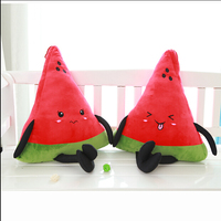 1pcs 40cm wholesale Hot cute plush watermelon pillow cushion pillow plush toy fruit pillow Birthday Gift Free Shipping