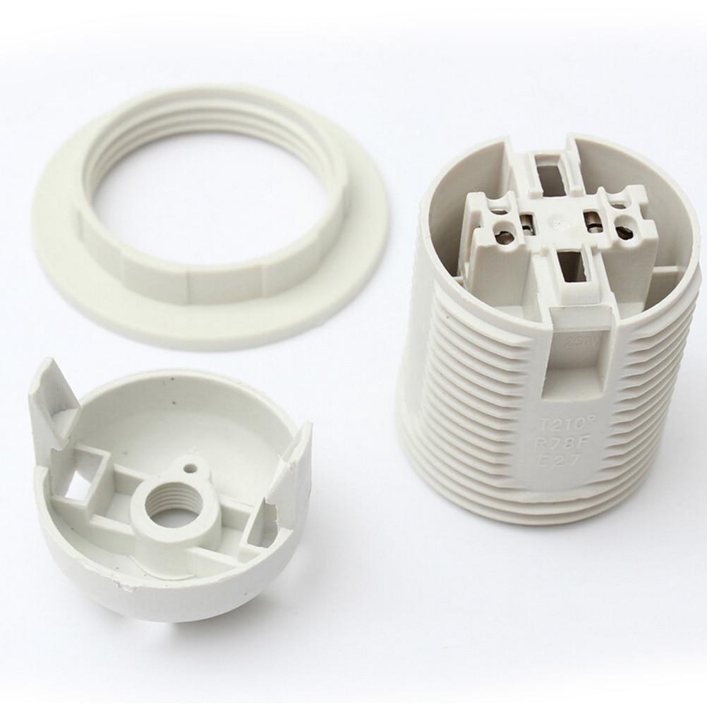Screw ES E27 M10 Light Bulb Lamp Holder Pendant Socket Lampshade Collar SE
