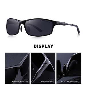 Image 2 - MERRYS DESIGN ผู้ชายโลหะผสมอลูมิเนียมคลาสสิกแว่นตากันแดด HD แว่นตากันแดด Polarized กีฬากลางแจ้ง UV400 ป้องกัน S8266