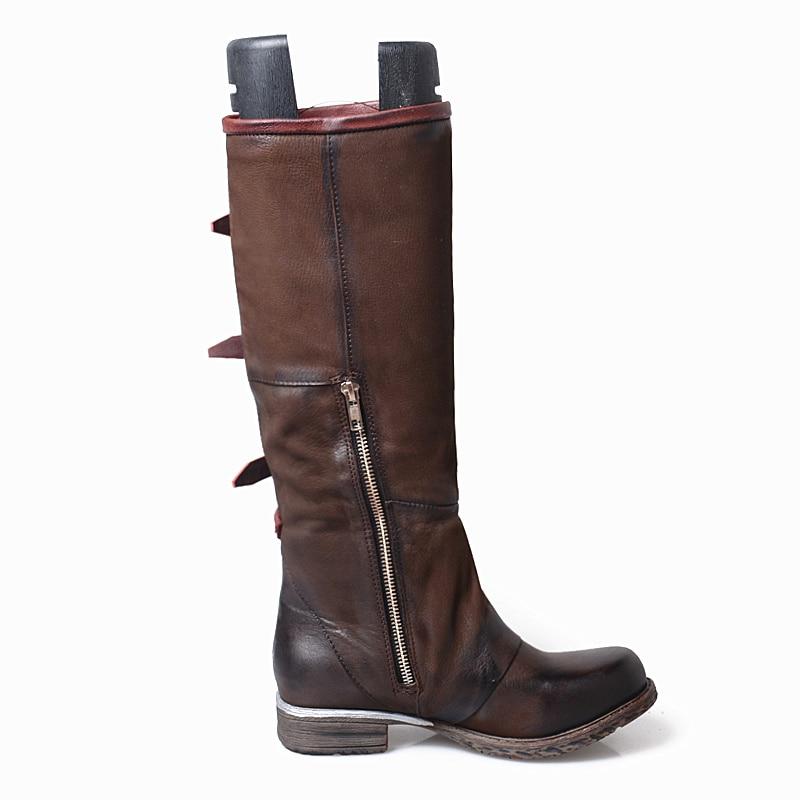 brown Chaussures Mujer brown Mabaiwan Botines Coffee Main Short Véritable Bottes Cuissardes Gladiateur Militaire La En Cuir Des Appartements Femmes Plush coffee Mode De Cowboy À Lpush Nnm0wOyv8P