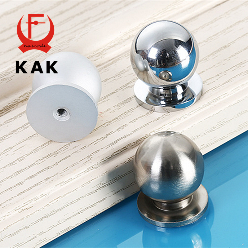 KAK 10pcs Aluminium alloy Cabinet Drawer Knobs wholesale Simple Wardrobe Door Pull Circle Handles Modern Furniture Hardware simple modern door handle drawer cabinet pull wardrobe knobs brush finish gold and silver handles single hole 96 128mm