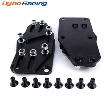 Black Engine Adjustable Sliders Motor Mount Adapters Black For 1997-2013 Gen III/IV LS Series Engine Mount YC101301