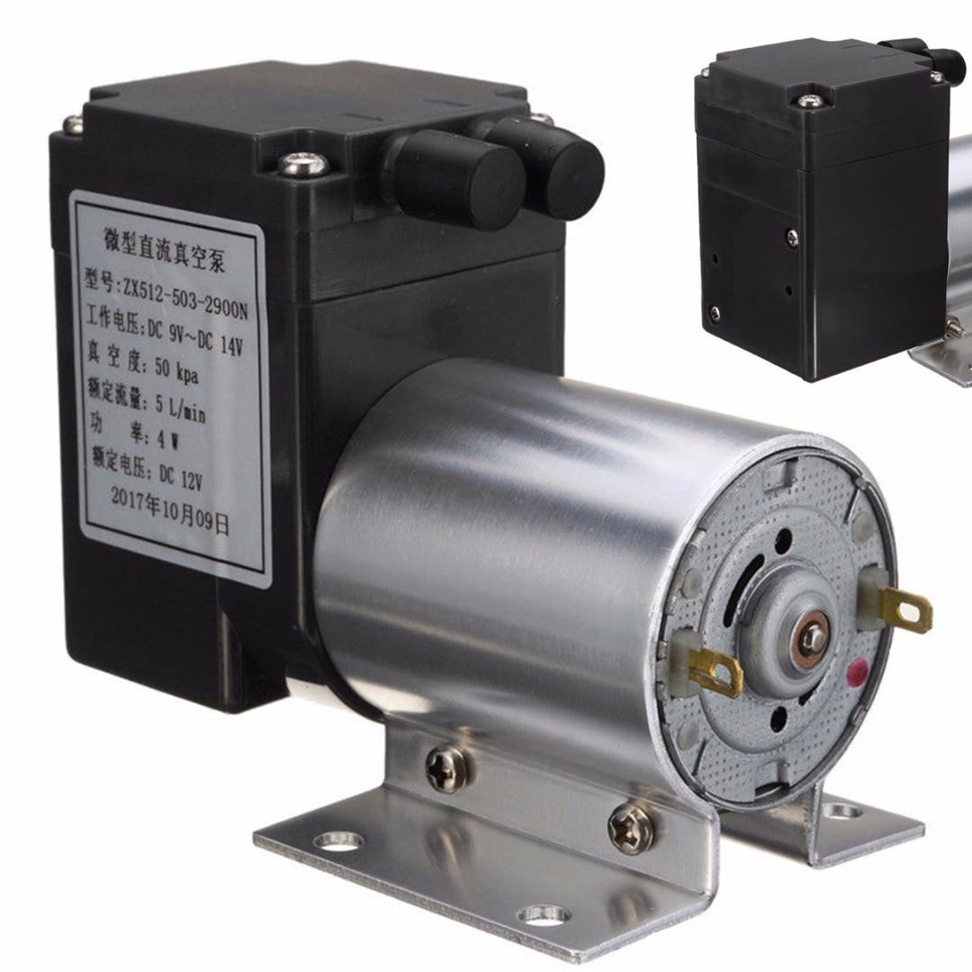 New DC 12V Mini Vacuum Pump Electric Vacuum Air Pump Negative Pressure Suction 5L/min 80kpa For Home Appliance 3l m 100kpa pressure dc electric mini brushless vacuum pump
