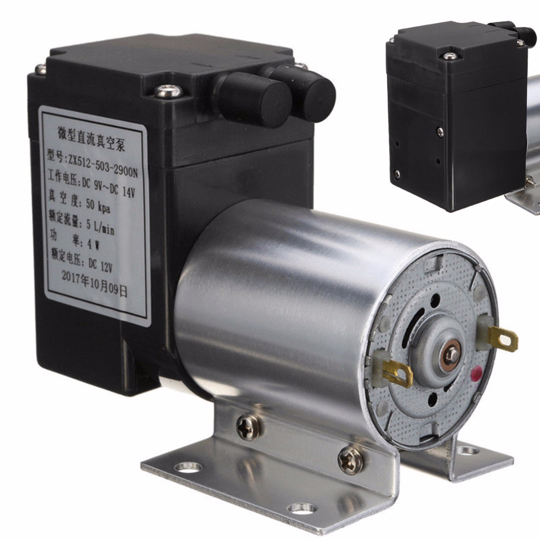 New DC 12V Mini Vacuum Pump Electric Vacuum Air Pump Negative Pressure Suction 5L/min 80kpa For Home Appliance dste slb 10a 1300mah battery for samsung l100 l110 l200 l210 wb250f wb200f wb280f