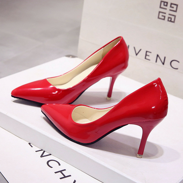 New small fresh high heels 7cm fine with bridesmaid shoes with pointed women's singles shoes.