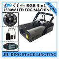 Лучшая цена RGB 3in1 LED 1500 Вт дым машина дистанционного + dmx512 + Постоянная температура машина тумана, DJ оборудование
