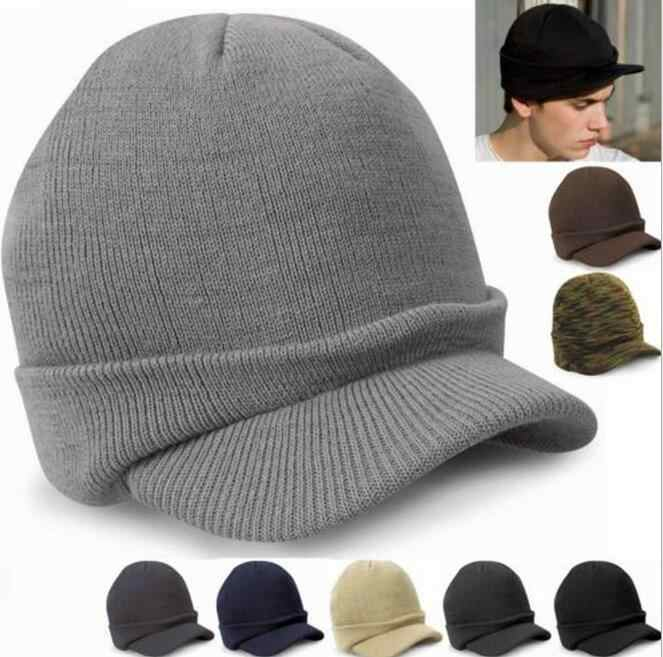 4fa08b7c 2019 Fashion Army Style Cap Warm Winter Hat Knitted Hats Casquette For Women  and Men Beanie
