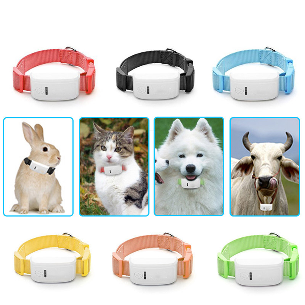 Dog Collar with GPS Tracker Anti-lost GPS Dog Pet Finder Locator Remote Tracker for Pet Dog Cat with EU Plug pet dog cat gps tracking locator collar real time waterproof mini smart anti lost lcc77