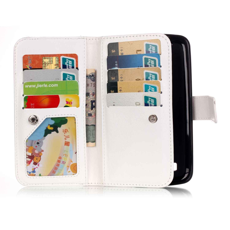 9 بطاقة حامل المحفظة الهاتف حالات لل lg k7 X210 X210DS MS330 الفاخرة بو الجلود فليب حالة lg تحية 5 LS675 estuche كابا celular