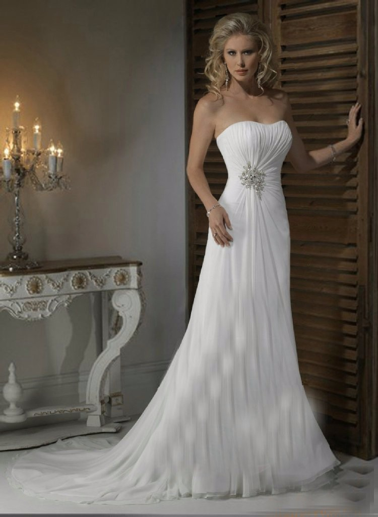 Elegant White Off the Shoulder A-Line Wedding Dresses 2019 Sleeveless with Beaded Waist Chiffon Bridal Gowns vestido de noiva