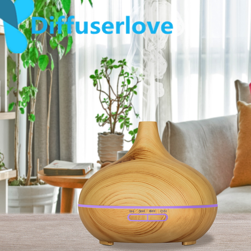Diffuserlove 300ML Air Humidifier Ultrasonic Essential Oil Diffuser With 7 Color Light Electric Aromatherapy Humidifier for home