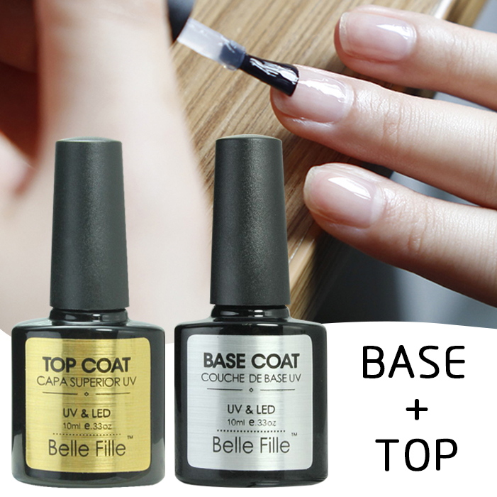 base and top coat transparent uv gel nail polish 10ml soak off long lasting primer lacquer nail. Black Bedroom Furniture Sets. Home Design Ideas