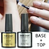 Base And Top Coat Transparent UV Gel Nail Polish 10ml Soak Off Long Lasting Primer Lacquer Nail Manicure Vernis Semi Permanent