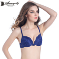 Annajolly Women Push Up Bras Sexy Top Blue Green Bra Lingerie Underwear Floral Lace Comfortable Brassiere Fashion New U1111