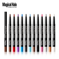 1set cosmetics 12 color automatic rotating waterproof eyeliner eye shadow lying silkworm pen multicolor  hot style eye makeup