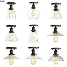 IWHD Vintage lámpara De Techo De vidrio para sala De estar Industrial Edison LED accesorios De luz De Techo Plafondlamp lámparas De Techo