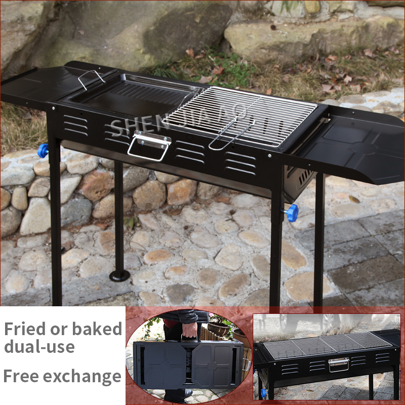 Type épaissi grand Barbecue Barbecue haute qualité ménage Barbecue Barbecue extérieur charbon de bois Portable Grill pour 5 personnes ou plus