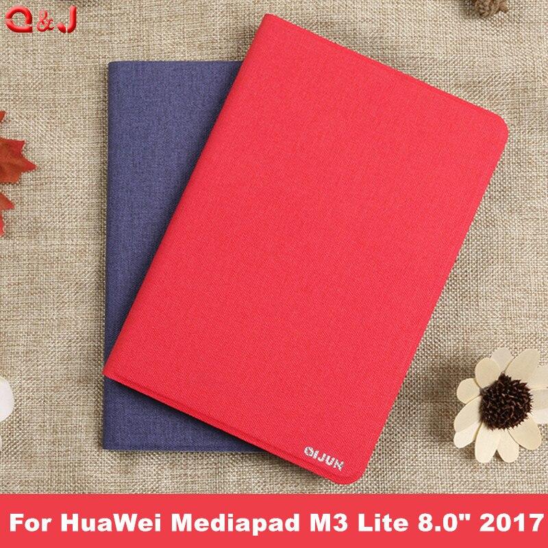 Case Kapak HuaWei Mediapad M3 Lite 8.0 2017 Yeni PU Ince Akıllı Standı Kılıf HUAWEI M3 8 inç tablet Funda Durumda